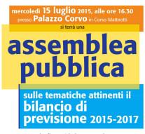 Assemblea pubblica sul bilancio di previsione 2015 – 2017