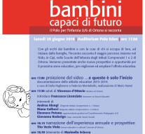 Bambini capaci di futuro. Presentazione delle attività educative del Nido, di Cipì e delle scuole dell'Infanzia di Ortona